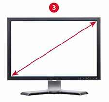 Monitor Diagonal Measurement
