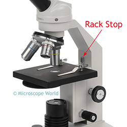 High School Microscope Rack Stop