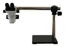 Stereo zoom boom microscopes.