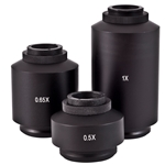 Microscope c-mount adapters and SLR adapters