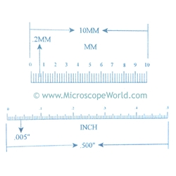 """17mm To Inches >> KR2249 Ruler Reticle 10mm and 0.500"""""""