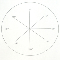 KR304A 45 degree increment reticle