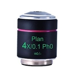 Phase 4x Microscope Objective Lens