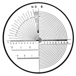 Mitutoyo comparator reticle 183-107.