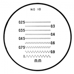 Mitutoyo comparator reticle 183-111.