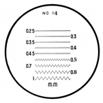 Mitutoyo comparator reticle 183-115.