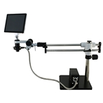 Zoom LCD Microscope System on Boom Stand
