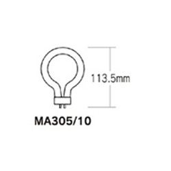 Ring Fluorescent Bulb, Warm White MA305-10