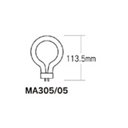 Ring Fluorescent Bulb, Daylight MA305-05
