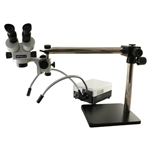 Meiji EMZ5 Stereo Zoom Microscope on Boom Stand